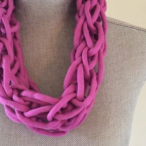 Orchid handmade arm knit infinity scarf